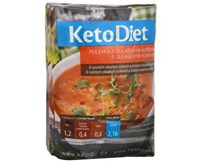 KetoDiet Proteinová polévka gulášová7 x 27 g