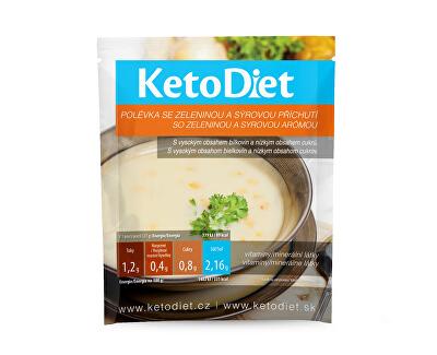 KetoDiet Proteinová polévka sýrová se zeleninou 7 x 27 g