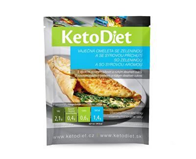 KetoDiet Proteinová omeleta se sýrovou příchutí 7 x 27 g