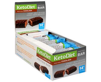 KetoDiet Proteinová tyčinka příchuť čokoláda 14 x 36 g