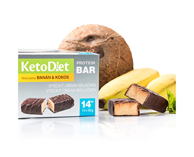 Proteínová tyčinka príchuť kokos-banán 14 x 36 g