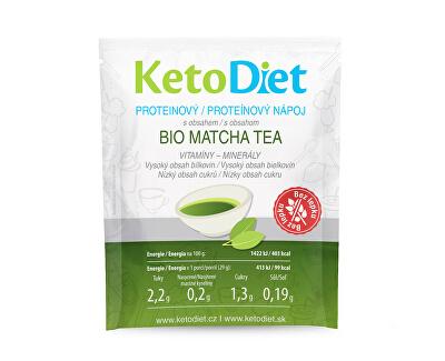 KetoDiet Proteinový nápoj Matcha tea 7 x 29 g + příchutě