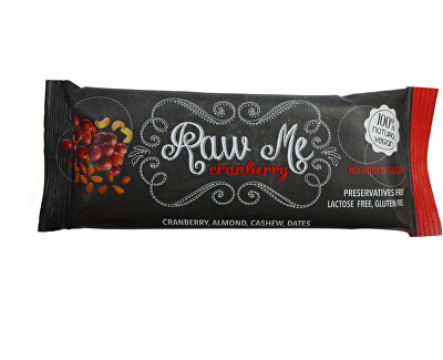 RAW ME Tyčinka Raw Me Brusinka 45g