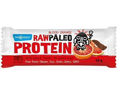 Max sport Tyčinka Raw paleo protein Blood Orange 50g