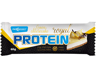 Max sport Tyčinka proteinová Royal protein delight lemon cheesecake 60g
