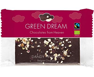 Green Dream Bio hořká čokoláda se směsí ořechů a brusinkami 100g