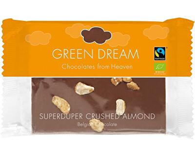 Green Dream Bio mléčná čokoláda s karamelizovanými mandlemi 100g
