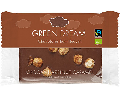 Green Dream Bio mléčná čokoláda s karamelizovanými oříšky 100g