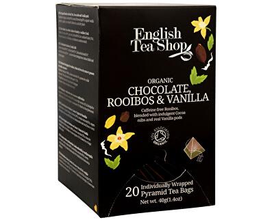 English Tea Shop Čaj Čokoláda, rooibos & vanilka 20 pyramidek