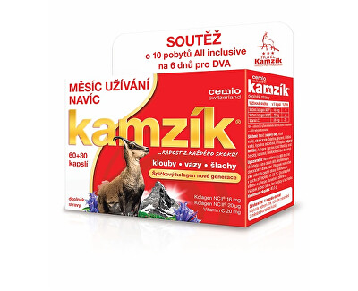 Cemio Kamzík kolagén na kĺby 60 kapsúl + 30 kapsúl