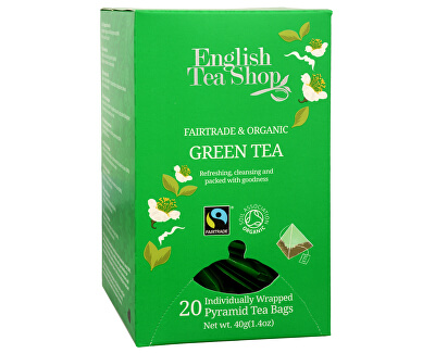 English Tea Shop Čistý zelený čaj 20 pyramidek