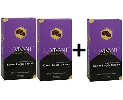 Lavivant Korean Lingzhi (Ganoderma, reishi) 30 kapslí (2+1 ZDARMA)