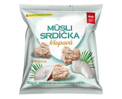 Semix Musli srdíčka křupavá kokosová 50g