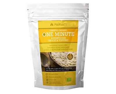 One Minute Superfoods snack & topping BANÁN A nepražené kakaové BOBY 300 g