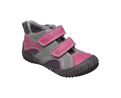 Zdravotní obuv dětská N/401/402/P16/P45 šedo-růžová