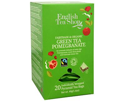 English Tea Shop Zelený čaj s granátovým jablkem 20 pyramidek