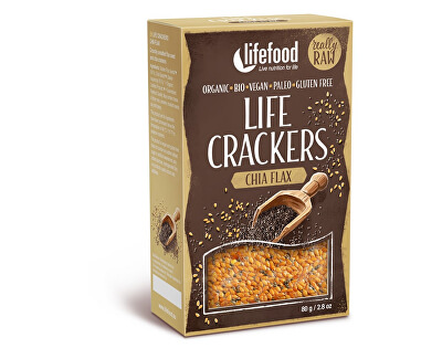 Lifefood Bio Life crackers  Lněné s chia RAW 80 g