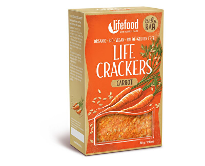 Lifefood Bio Life crackers Mrkvánky RAW 80 g