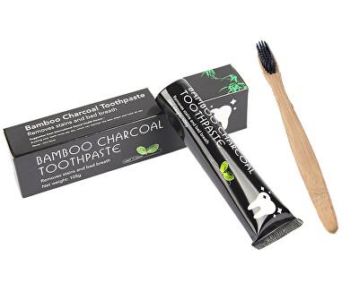 Cyndicate Bělící zubní pasta Charcoal 105 g + bambusový kartáček na zuby ZDARMA