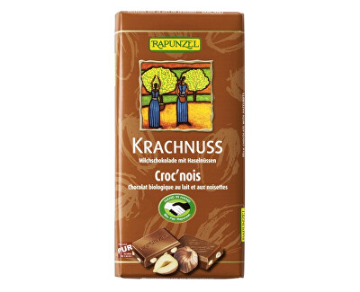 Rapunzel Bio fair trade mléčna čokoláda s lískovými oříšky 100g