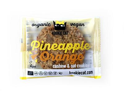 KOOCKIECAT Bio koláček ovesný bezlepkový ananas a pomeranč 50g