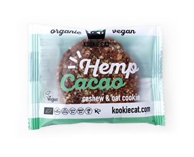 KOOCKIECAT Bio koláček ovesný bezlepkový konopné semínko a kakao 50g