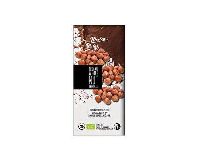 Meybona Bio mléčná čokoláda s celými lískovými oříšky 100g