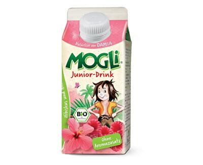 MOGLI Bio nápoj junior z ibiškového čaje a ovocných šťáv bez cukru 330ml, min.trv. 10.8.2018
