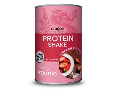 Dragon superfoods Bio proteinový koktejl jahoda a kokos 450g