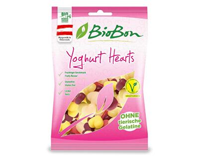 bio bon Bio Bonbóny jogurtové srdíčka bezlepkové bez želatiny 100g