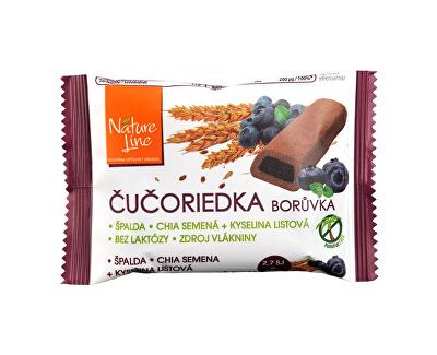 Nature Line Celozrnné sušenky s borůvkovou náplní 50g