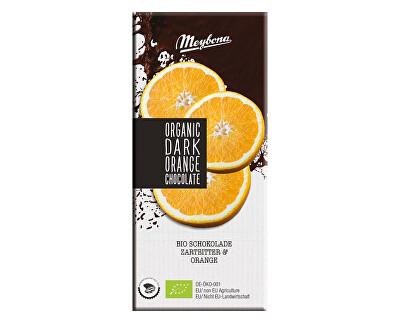 Meybona Bio Čokoláda hořká s křupavými pomerančovými granulemi 52% 100g