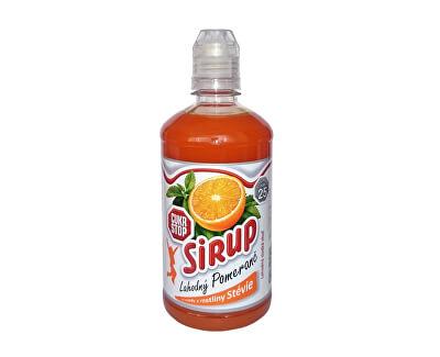 CukrStop CukrStop sirup se sladidly z rostliny stévie - příchuť pomeranč