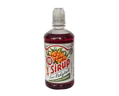 CukrStop sirup sa sladidlami z rastliny stévia - príchuť rakytník