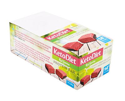 Proteínová tyčinka príchuť Red Berries 14 x 36 g