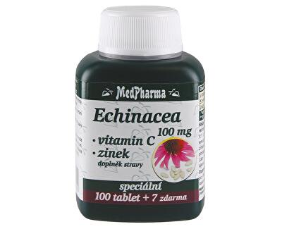 MedPharma Echinacea 100 mg + vitamín C + zinek 100 tbl. + 7 tbl. ZDARMA
