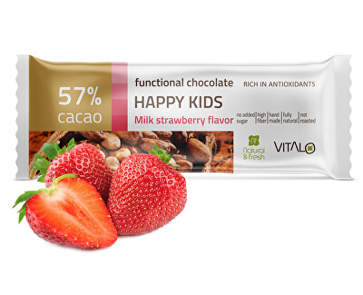 Vitalo Funkčné čokoláda Happy Kids - Milk strawberry Flavor 25g