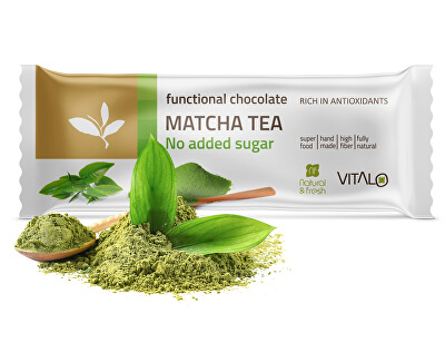 Funkčné čokoláda Matcha tea 25g
