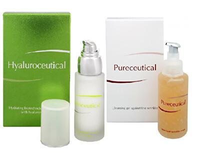 Herb Pharma Hyaluroceutical - hydratační biotechnologická emulze 30 ml + Pureceutical - čistící gel proti jemným vráskám 125 ml