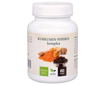 Natural Medicaments Kurkumin-piperin komplex 60 tablet