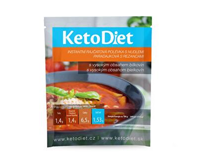 KetoDiet Proteinová polévka rajčatová s nudlemi 7 x 34 g