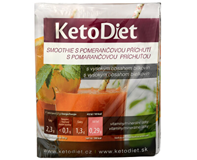 KetoDiet Proteinové smoothie s pomerančovou příchutí 7 x 27 g