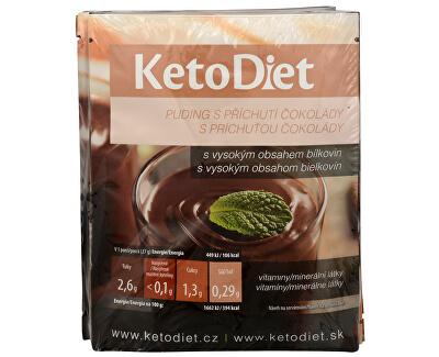 KetoDiet Proteinový pudink s čokoládovou příchutí 7 x 27 g