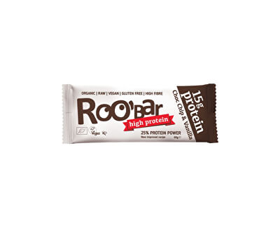 Roobar Bio tyčinka Roobar protein čokoláda vanilka RAW 60g