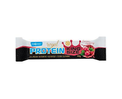 Max sport Tyčinka proteinová Royal protein Kingsize brusinka 80g, min. trv. 8.11.2018
