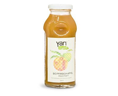 Yan Bio Šťáva broskev jablko 100% bez cukru 250ml