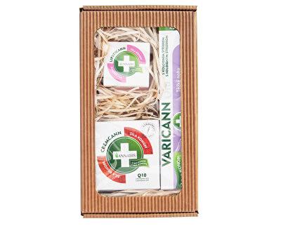 Annabis Darčekové balenie pre ťažké nohy - Varicann Q10 + Cremcann Q10 50 ml + Lipsticann 15 ml + Balcann 15 ml