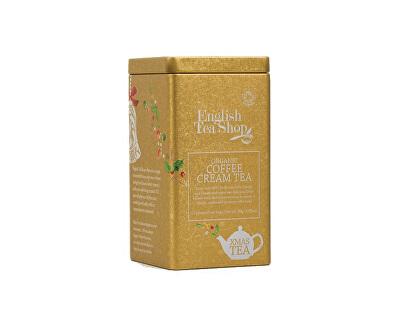English Tea Shop Vánoční plechovka 15 hedvábných pyramidek - Coffee Cream
