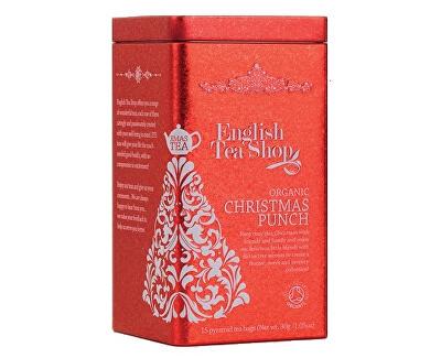 English Tea Shop Vianočný plechovka 15 hodvábnych pyramidek - Vianočný punč