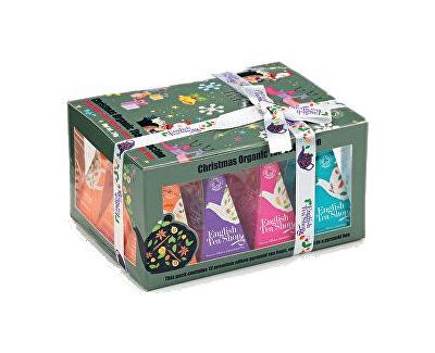 English Tea Shop Vánoční sada 12 pyramidových sáčků - Ozdoby